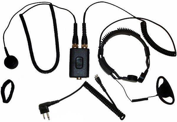 AE-38-M1 - Security-Headset mit Kehlkopfmikrofon