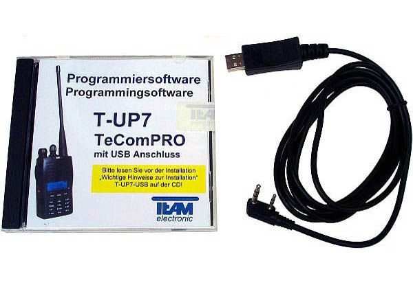 Team T-UP7 USB - Programmierset - TeCom-Pro VHF/UHF/PMR/Freenet