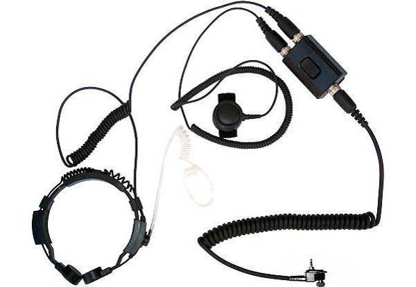 KEP-23-MT - Security-Headset mit Kehlkopfmikrofon