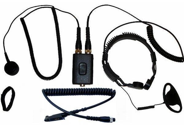 AE-38-GP344 - Security-Headset mit Kehlkopfmikrofon