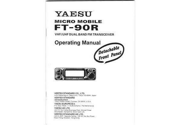 Yaesu FT-90R - Operating Manual english