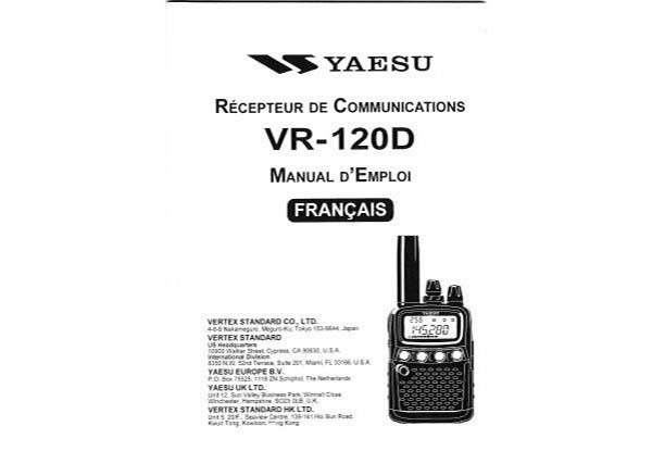 Yaesu VR-120 - Manual d Employ francais