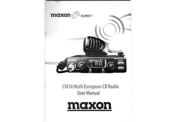 Maxon CM10 Manual deutsch,english,francais,espanol,italiano,polski