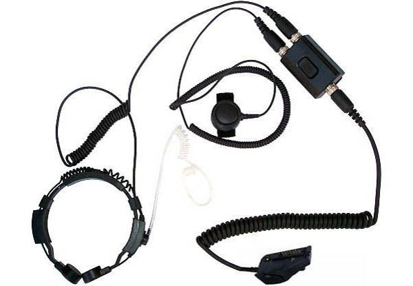 KEP-23-TK290 - Security-Headset mit Kehlkopfmikrofon