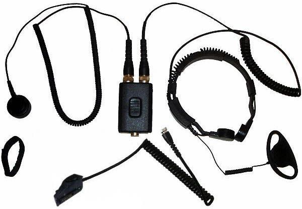 AE-38-TK290 - Security-Headset mit Kehlkopfmikrofon