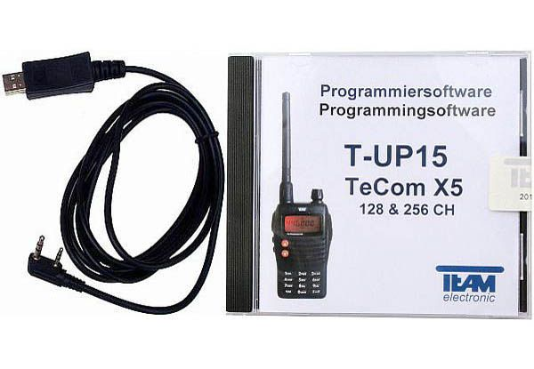 Team T-UP15 USB - Programmierset - TeCom-X5 VHF/UHF/PMR/Freenet