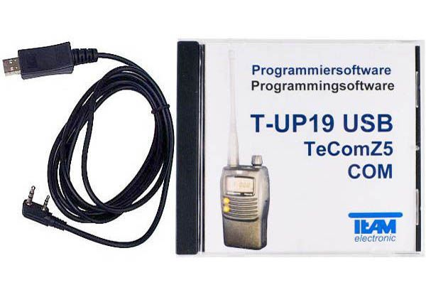 Team T-UP19 USB - Programmierset - TeCom-Z5 VHF/UHF/PMR/Freenet