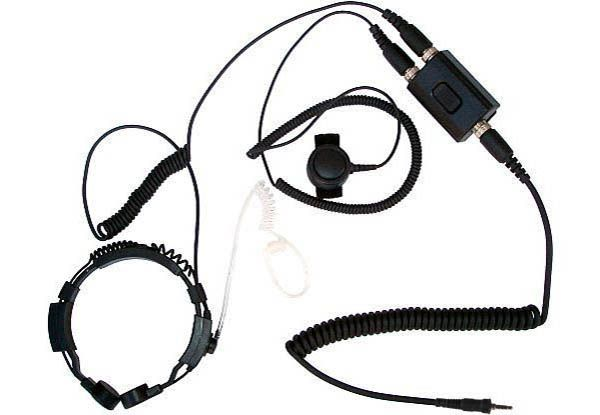 KEP-23-Y - Security-Headset mit Kehlkopfmikrofon