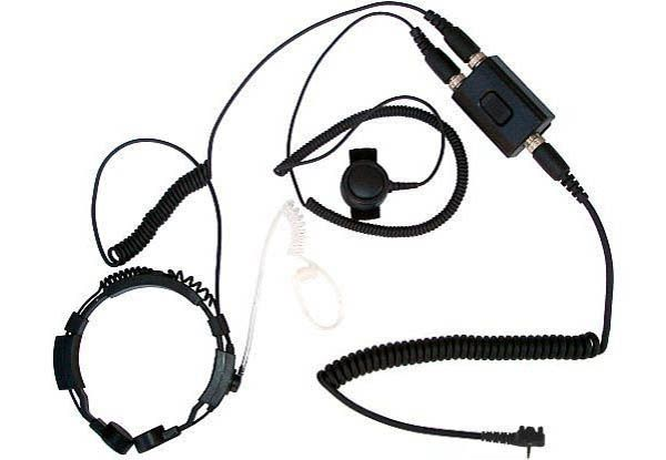 KEP-23-Y351 - Security-Headset mit Kehlkopfmikrofon