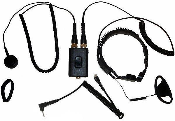 AE-38-M - Security-Headset mit Kehlkopfmikrofon
