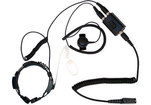 KEP-23-ST - Security-Headset mit Kehlkopfmikrofon