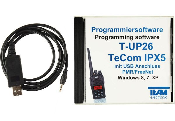 Team T-UP26-PMR USB - Programmierset - TeCom-IPX5 PMR/Freenet