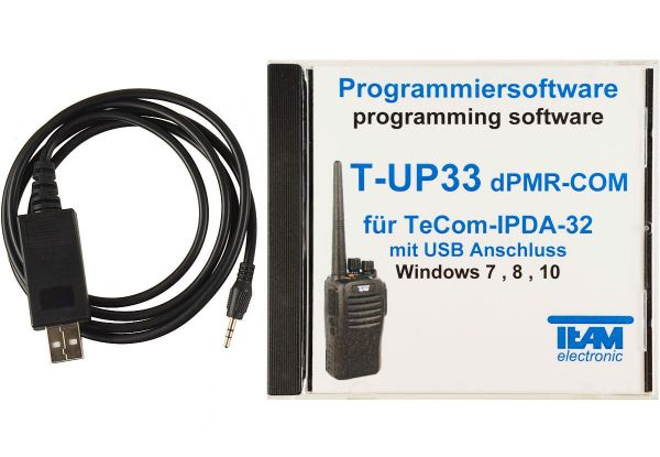 Team T-UP33-IP-DA32 COM USB - Programmierset - TeCom-IP-DA32 dPMR UHF-COM