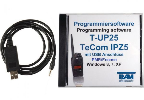 Team T-UP25-PMR USB - Programmierset - TeCom-IPZ5 PMR/Freenet