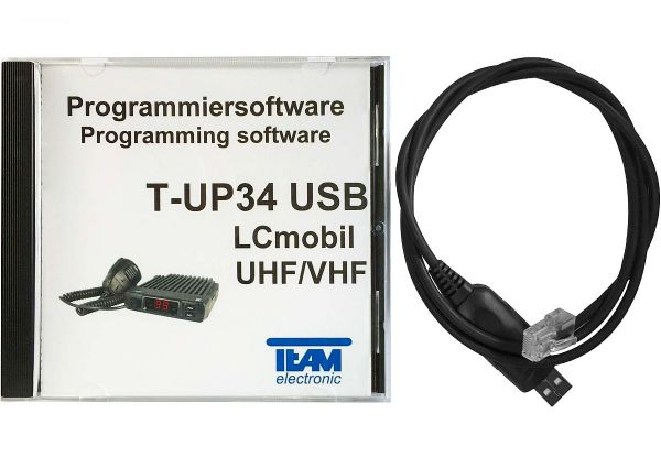 Team T-UP34-COM USB - Programmierset - LCmobile VHF + LCmobile UHF