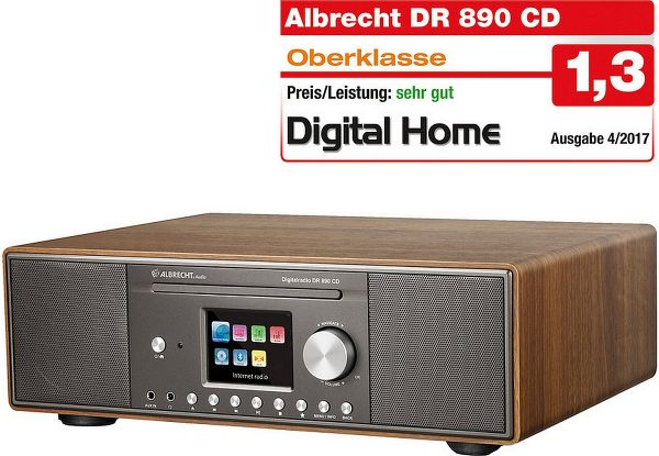 Albrecht DR 890 CD, DAB+/UKW/Internet-Radio/CD, Walnuss
