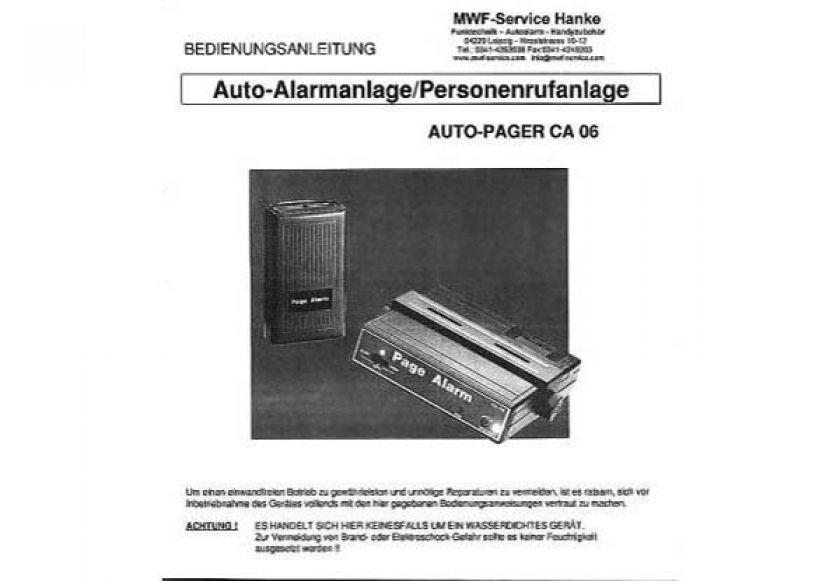 CA-6 Page Alarm - Bedienungsanleitung deutsch