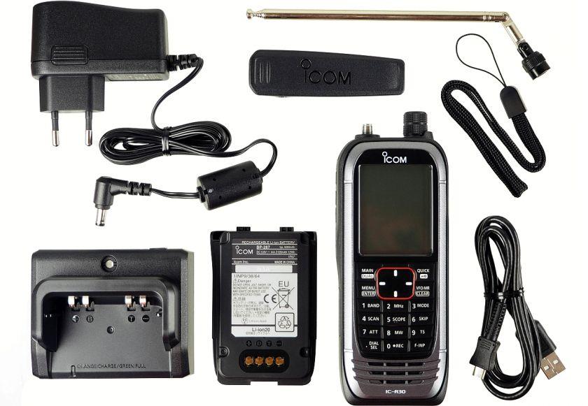 Icom IC-R30 - Handscanner 0,15-3300 MHz GPS Bluetooth